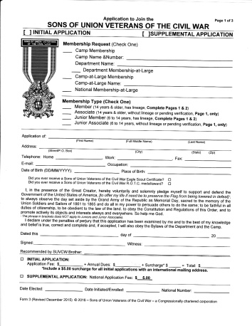 Form 3 Application