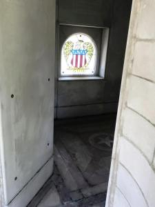 inside union monument stained glass window