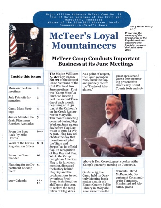 July 2017 Newsletter Cover Page