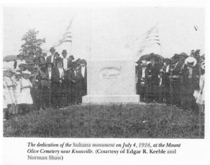 Original Sultana Monument Dedication