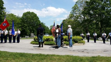 Color Guard and Firing Team takes their places during memorial service