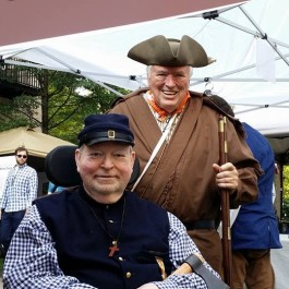 David McReynolds and George Lane participating in different eras at East TN History Fair