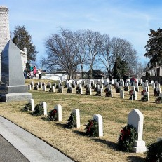 Decorated graves near Union Monument