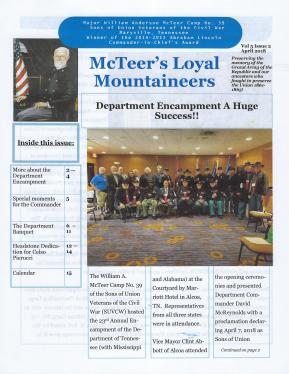 April 2018 Newsletter Cover